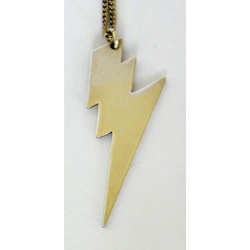 Sterling Silver 'Harry Potter' Style  Lightning Bolt Pendant/18 inch Chain
