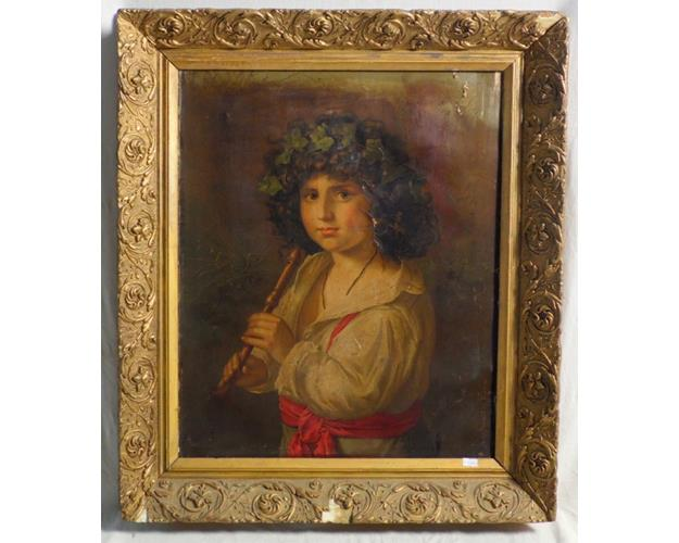 A 19th Century Oilagraph on Canvas. By the  Italian artist N.Schmitt.