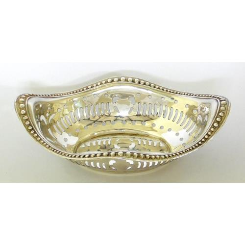 Sterling Silver Pierced Bon Bon Dish by Henry  Matthews. Early 1900s.