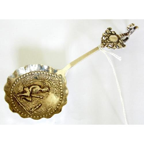 Dutch Sterling Silver Mong Kee Brandy  Drinking Spoon.
