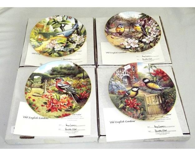 Set of 4 Wedgwood 'Old English Gardens'  Fine  Bone China Plates