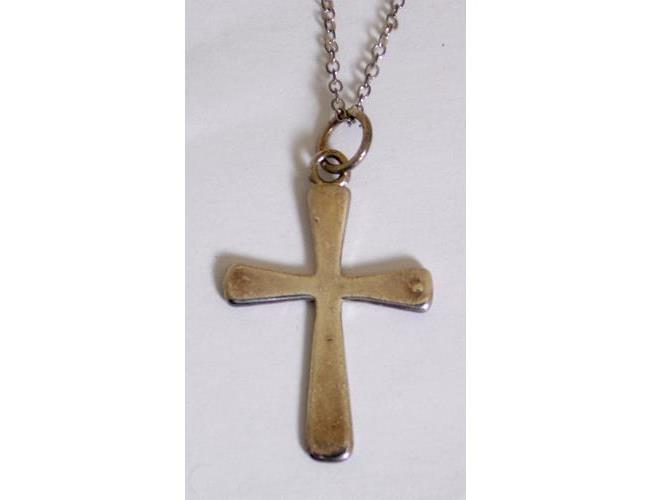 Sterling Silver Crucifix on 18 inch Silver  Chain.  Marked .925.  Boxed