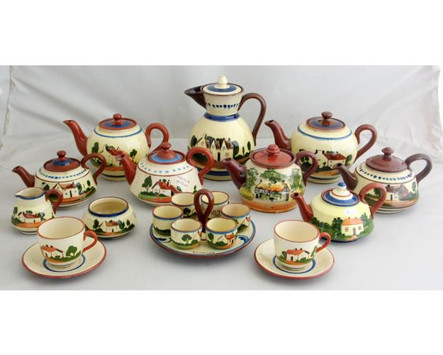Nice Collection of Torquay Motto Ware  Teapots,Egg Cup Stand Etc.