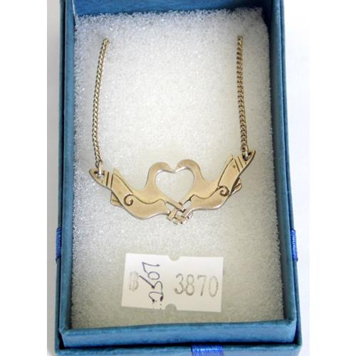 Shetland Silver  'Lovebirds' Pendant on 16  inch Silver Chain.