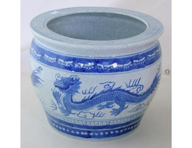 Chinese Export Blue and White Porcelain  Jardiniere