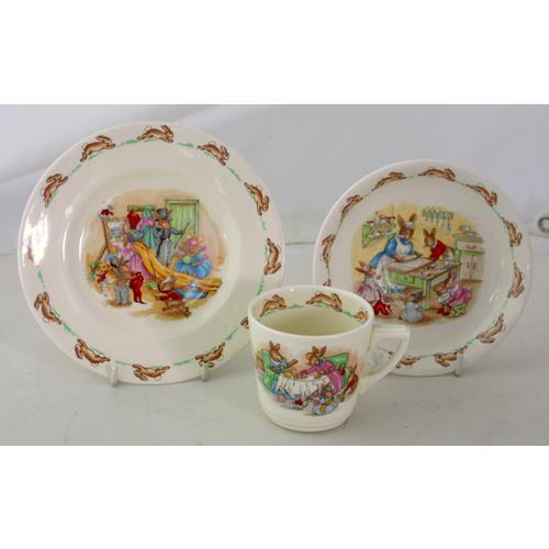 Royal Doulton 'Bunnykins' by Barbara Vernon:  Nurseryware Trio.