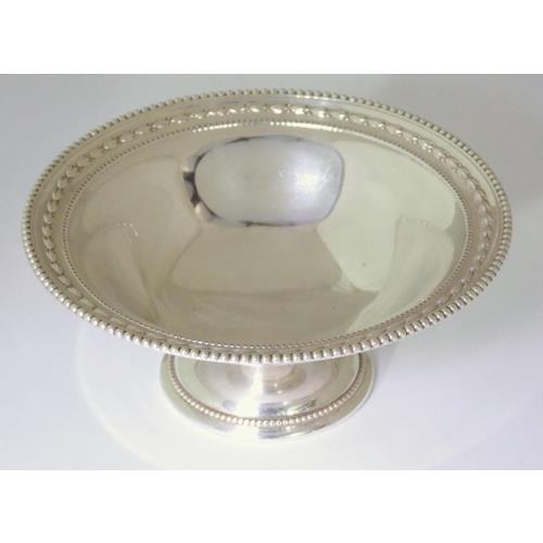 Edwardian Sterling Silver Bon Bon Pedestal  Dish