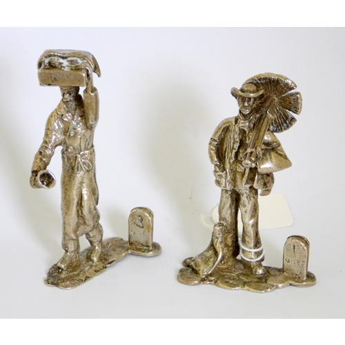 Sterling Silver 'Chimney Sweep' & 'Baker'  Figurines