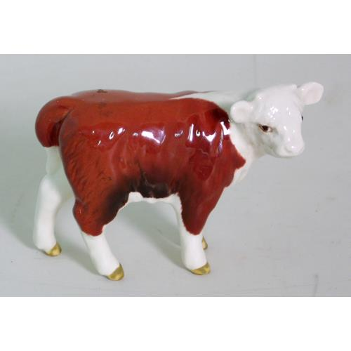 Beswick Hereford Calf Model No.1827C. Gloss.  1st Quality.