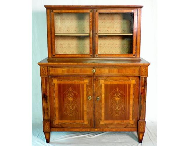 Antique French Profusely Inlaid Marquetry  Buffet,Sideboard