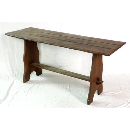 Vintage Solid Oak Refectory Garden Table.