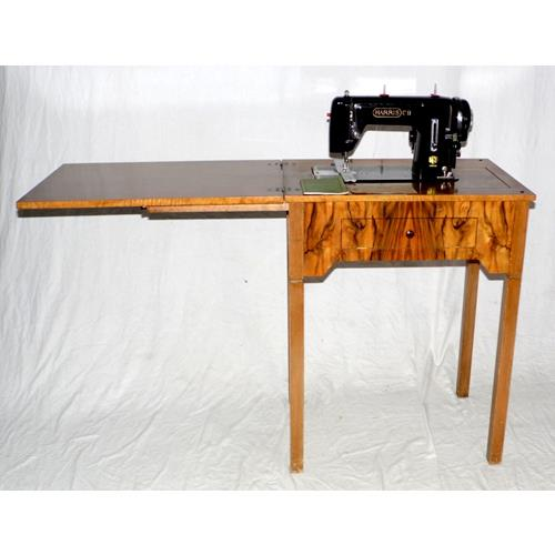 1950s Harris Sewing Machine on Walnut Work  Table