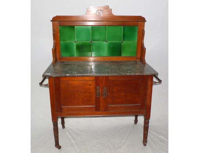 Victorian Mahogany Mable Top Washstand. Circa  1900..
