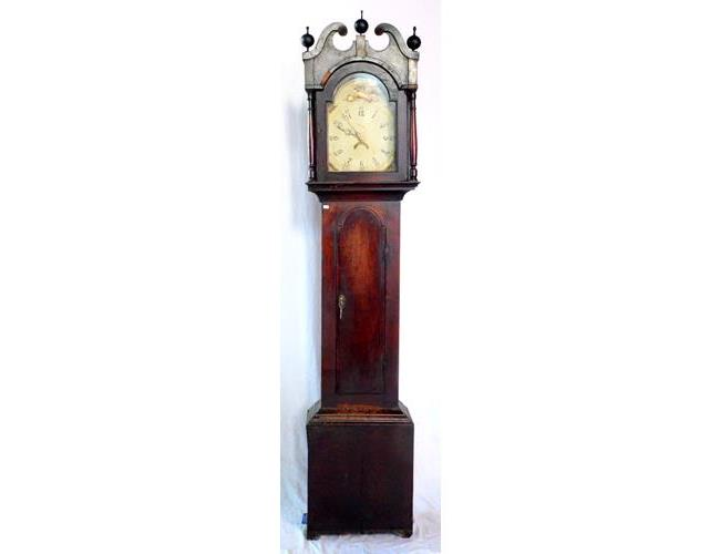 Georgian Oak Cased 30 hr. Longcase Clock