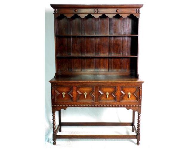 1920s Oak Jacobean Style Dresser.