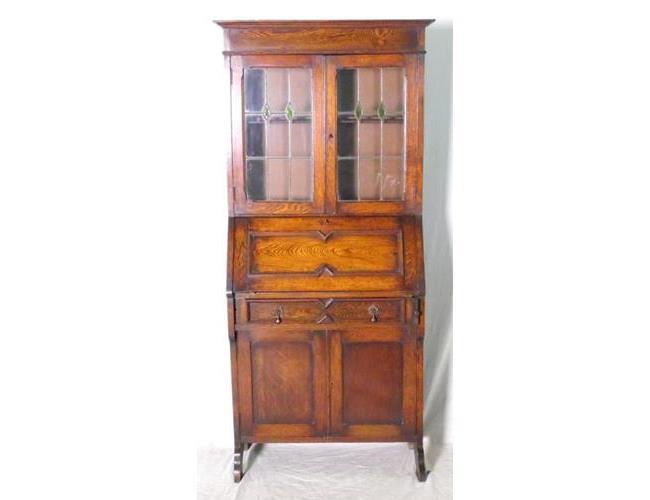 1920s Oak Bureau Bookcase