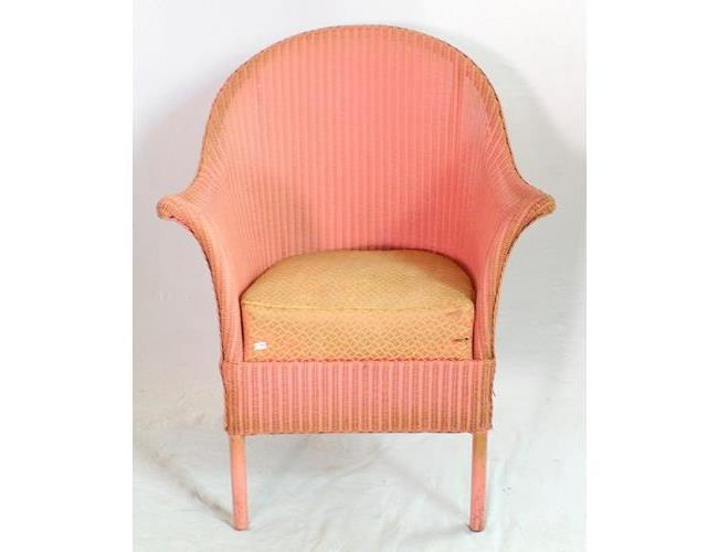 Sirrom Pink Lloyd Loom Style Chair. Height 43  inches.