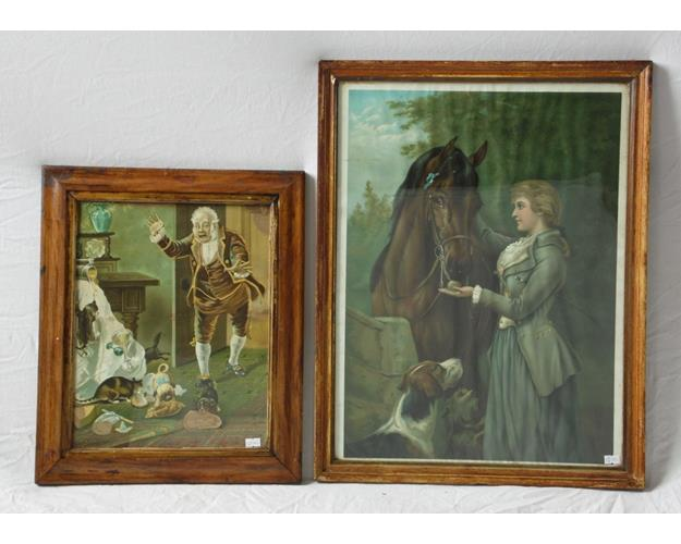 Victorian Art Prints 'Thoroughbred' and  'Naughty Pets