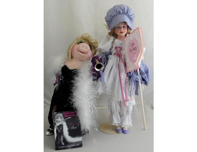 Franklin Mint  Millenium Miss Piggy .& Little  Bo Peep Dolls with COAs.