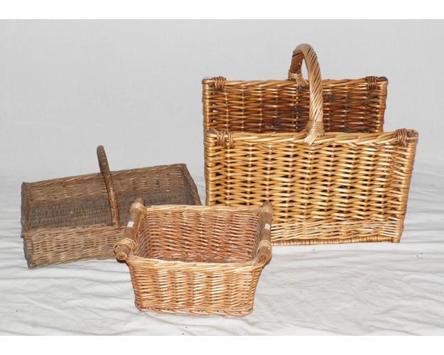 Vintage Cane Baskets.