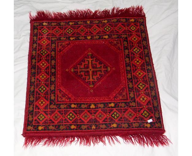 Antique Red Turkish Rug 80 x 64 cm