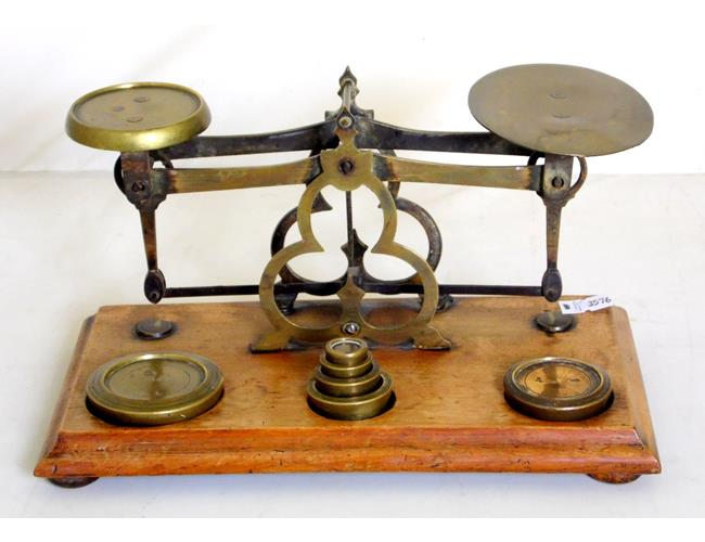 Antique Postal Scales & Full Set of Weights