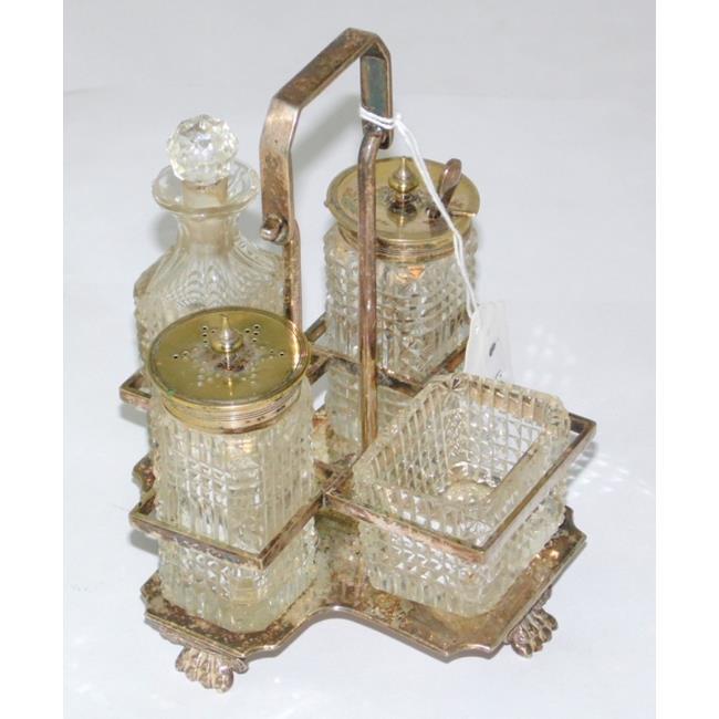 Antique Silver Plate Boardman & Glossop Cruet Set