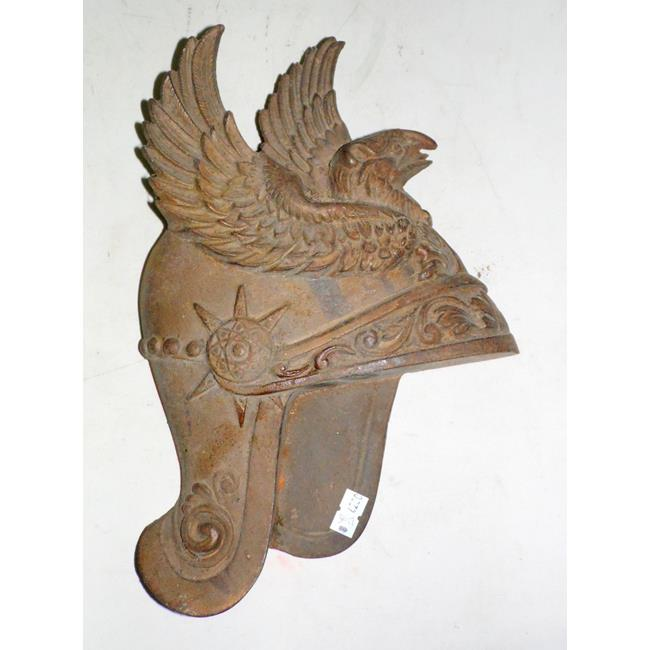 Antique Continental Eagle Helmet Metal Wall Plaque