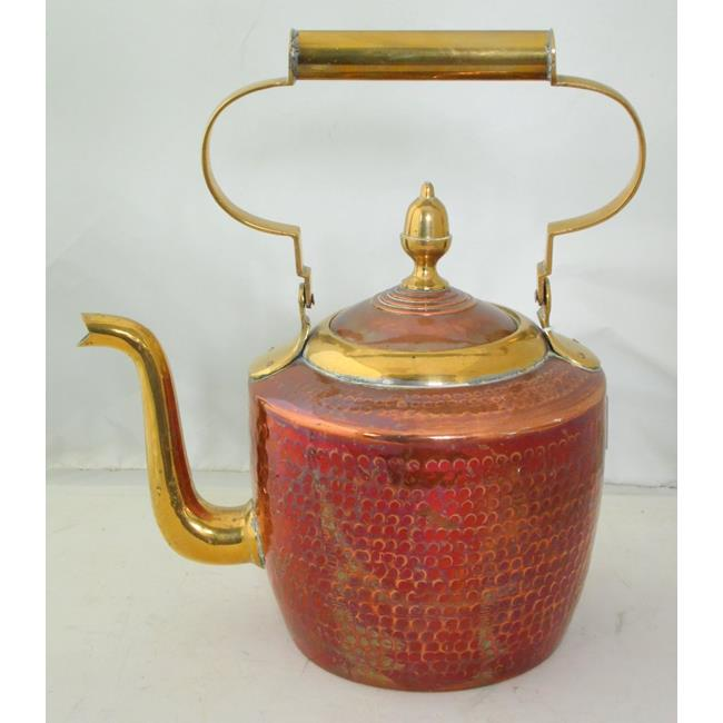 Vintage Hammered Copper and Brass Kettle
