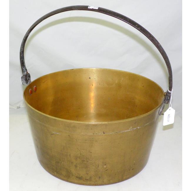 Large Victorian Brass Jam Pan.19th Century.