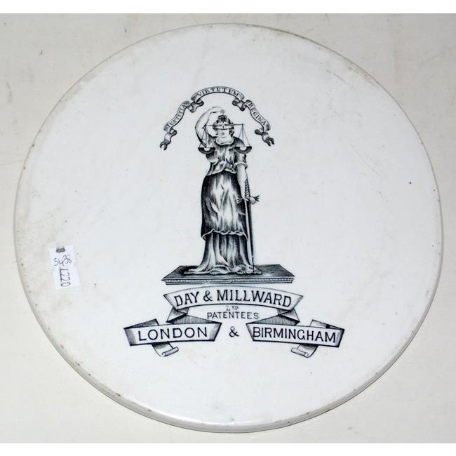 Day & Millward Advertising Pottery Scales Plate