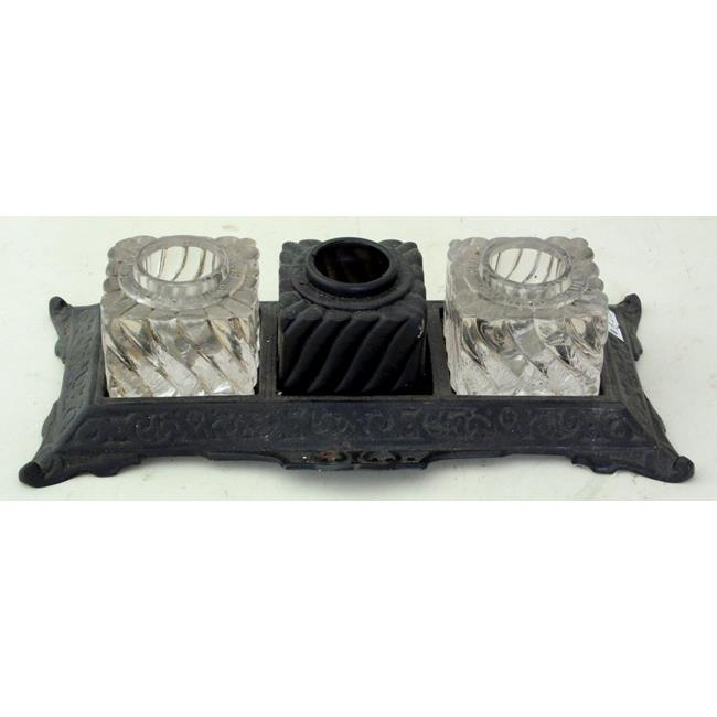 Victorian Cast Iron Ink Stand