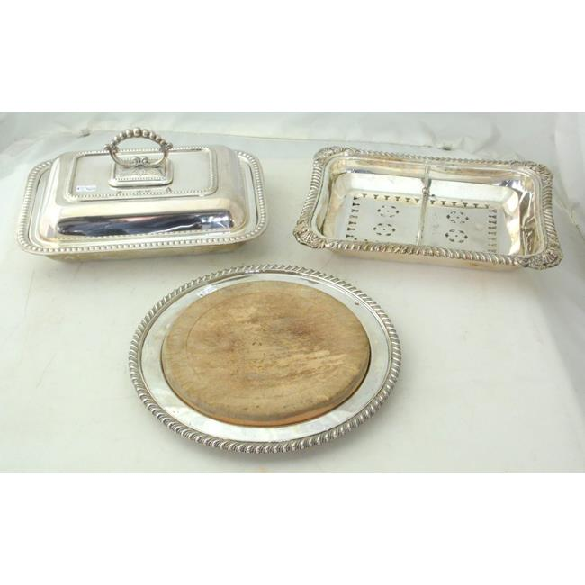 Elkington & Co. Antique Silver Plate Server Etc.