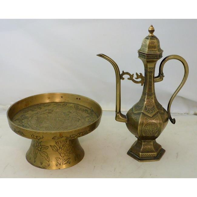 Middle Eastern Engraved Bronze Coffee Pot
