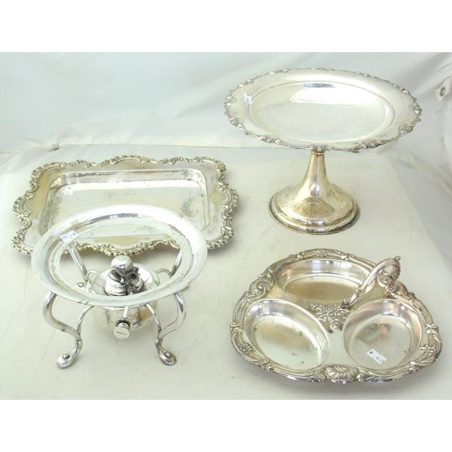Collection of Antique English Silver Plate