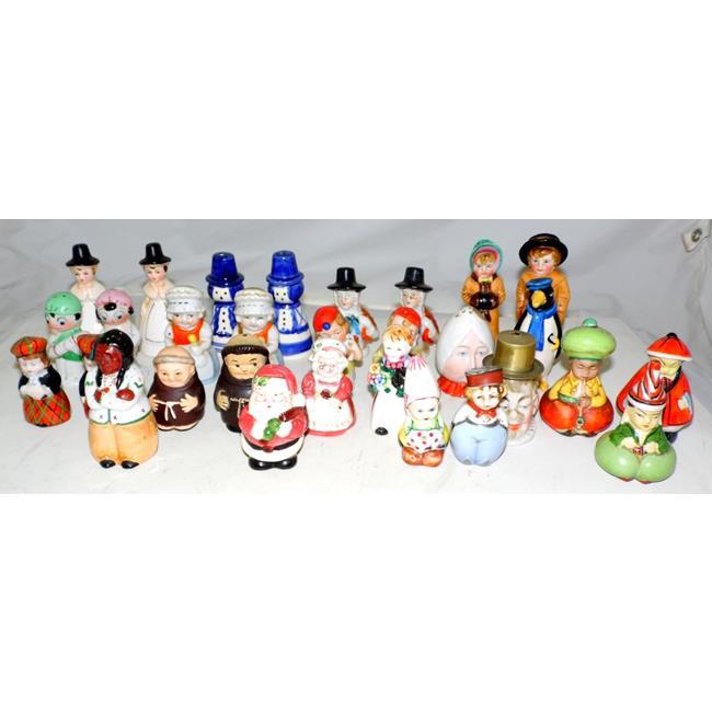 Collection of  Novelty Pottery Salt/Pepper Pots