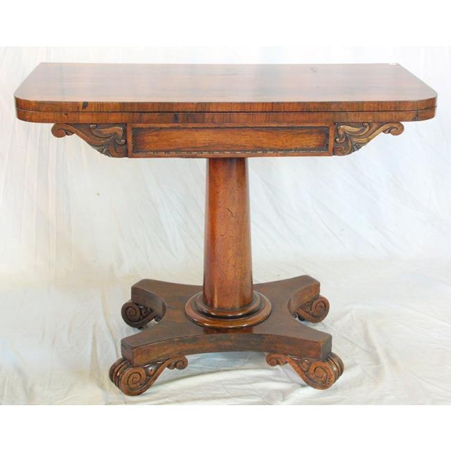 Fine George IV Rosewood Games Table. Early 19thc