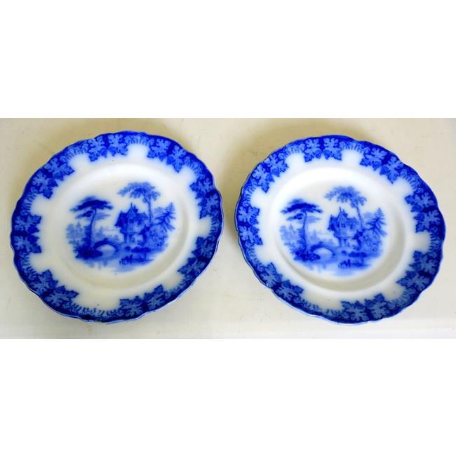 Antique Thomas Dimmock Kaolin Ware Plates