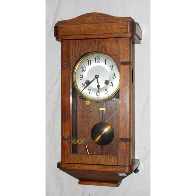 1920s Oak  Cased Wall Clock.