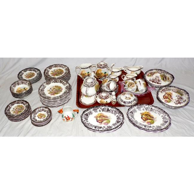 Royal Worcester Palissy Game Series Dinner/Tea Set