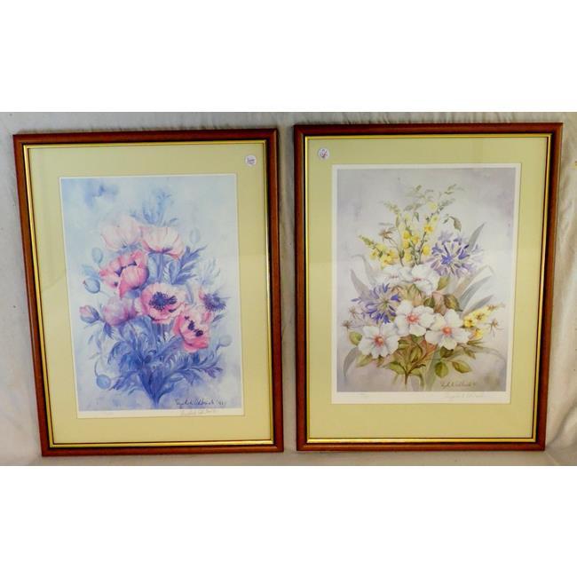 Pair of Elizabeth Ashbrook Flower Prints