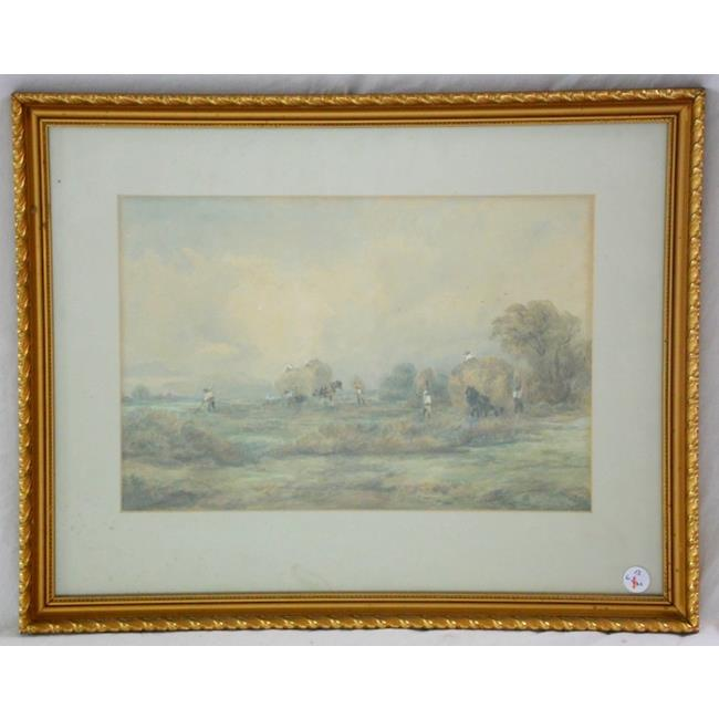 William L. Appleton 'Haymaking' Watercolour.