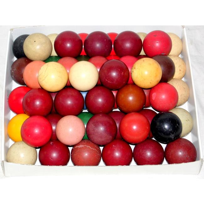 Good Collection of  52 Antique Billiard Balls