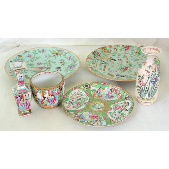 Collection of Antique Cantonese Porcelain.19thc