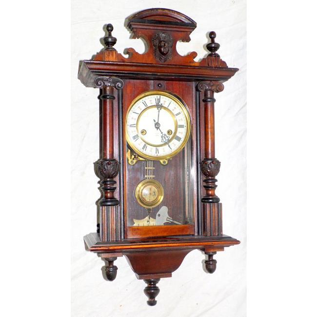 Victorian Vienna Wall Clock . Working Order