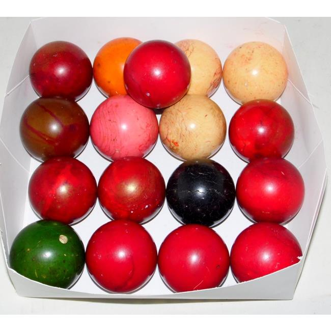 Antique Collection of 17 Ivory Billiard Balls