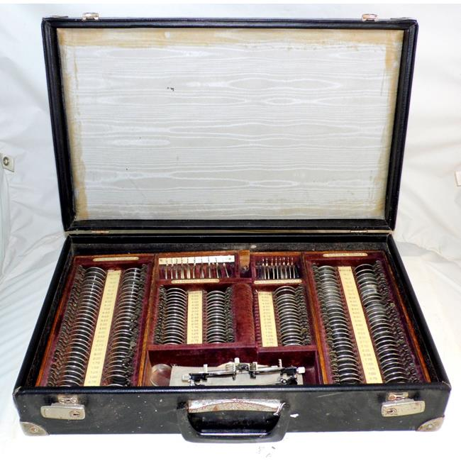Vintage Optometrist Eye Test Set