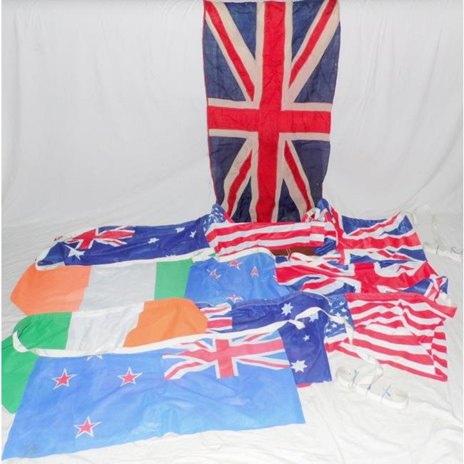 Victorian Union Jack Flag & 10 Commonwealth