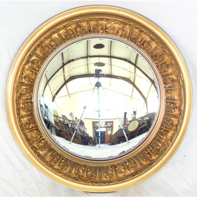 George IV Design Convex Gilt Framed Wall Mirror