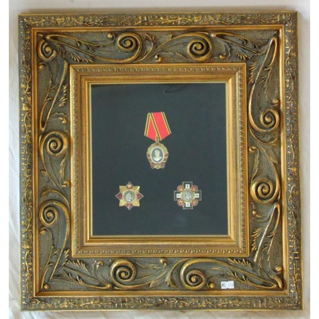 Collection of 3 Framed Russian Badges.